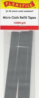 Flex-I-File Micro Cloth Refill Tapes 12000 Grit 6pc for Sanding Frame #MCRT12000