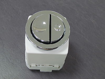Geberit Concealed Cistern Pneumatic Dual Flush Push Button 241.413.21.1 Chrome