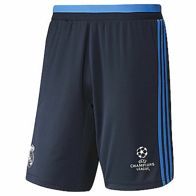 adidas Performance Mens Real Madrid Football Soccer Training Shorts - Navy