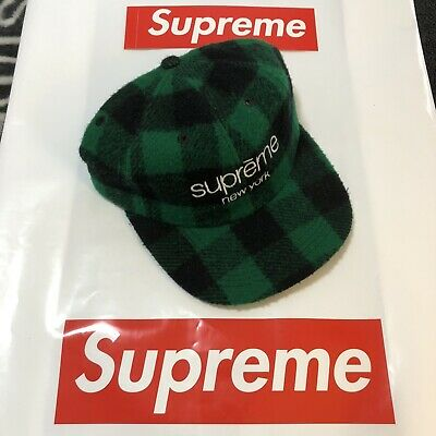 86c8293a Supreme Buffalo Plaid Wool Classic Logo 6-Panel (Green) Pre-Owned Fw16