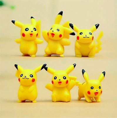Pokemon Pikachu 5 cm Action Figures Pvc Toys 6 Pcs/set by Kids Toys, UK SELLER