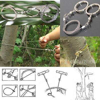 Steel Wire Saw Equipment Survival Camping Hiking Army Outdoor Tool Saw Gear -8C