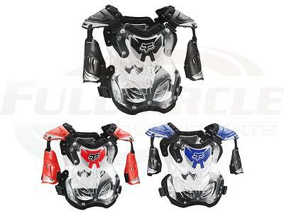 Fox Racing R3 Adult Large Chest/Roost Guard/Protector Black Blue Red Offroad MX