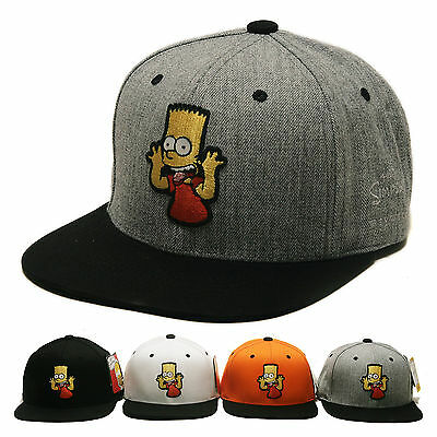 Unisex Mens Licensed The Simpsons Bart Simpson Baseball Cap Hiphop Snapback Hats