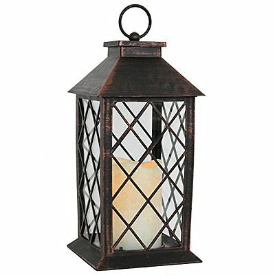 Lantern Height with LED Candle with Flickering Effect Garden Lamp Garden Candle