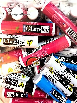 Lot of  36, OraLabs Chap-Ice Premium Lip Balm Assorted Flavors 0.15 oz stick