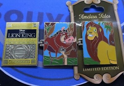 Timeless Tales Disney Pin Lion King Timone Pumba Simba LE Disney Pin 3,000 WDW