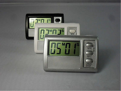Clock LCD Digital Kitchen Count Up Alarm  Timer Cooking Down