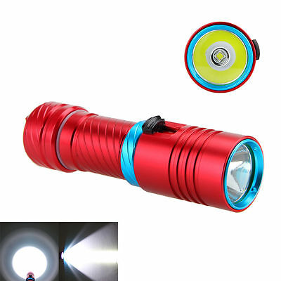 Diving Waterproof 6000LM XML U2 LED SCUBA Flashlight Torch 26650 Light Outdoor