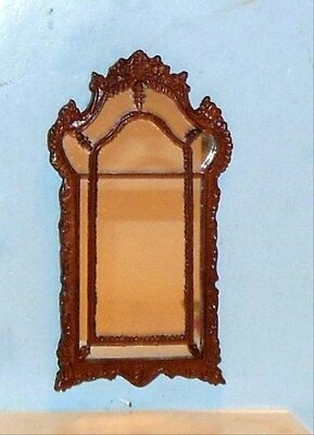 Bespaq Carved Fireplace Mirror  Dollhouse Furniture Miniatures