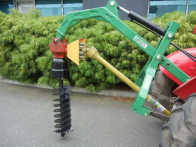 "Hayes Hydraulic Post Hole Digger Tractor 3 Point Linkage With 12"" Auger"