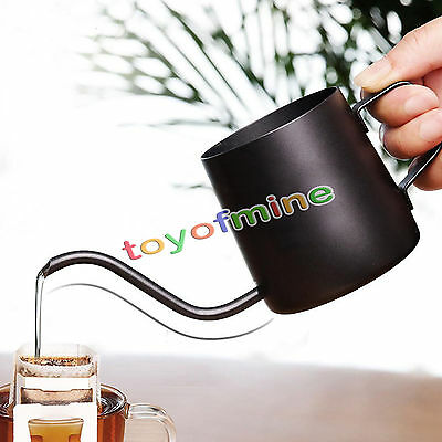 350ml Stainless Steel Coffee Tea Pot Pour Over Kettle Long Narrow Spout Drip