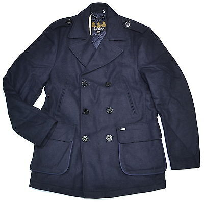 BARBOUR Duckpole Double Breasted Wool Trench Coat