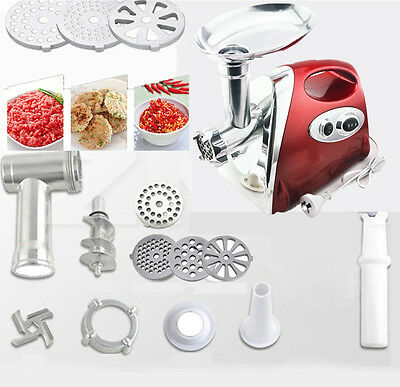 Red 2800W Electric Meat Grinder Sausage Maker & Mincer AU