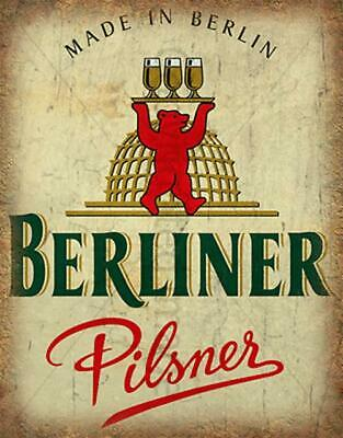 Berliner Pilsener LAGER BEER VINTAGE PUB BAR METAL TIN SIGN POSTER PLAQUE