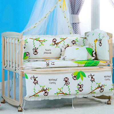 New Crib Nursery Bedding Sets Cartoon Baby Cot Bumpers Mattress Pillow Backrest