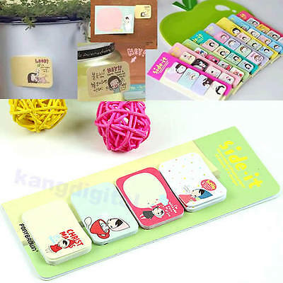 Cute Korean Stationery Sticker Post It Bookmarker Memo Pad Flags Sticky Notes