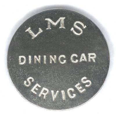Lms Dining Car Services Large Nickel Button