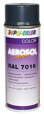3x DUPLI COLOR SPRAY CAN RAL 7016 ANTHRACITE GREY MATTE VARNISH AEROSOL PAINT