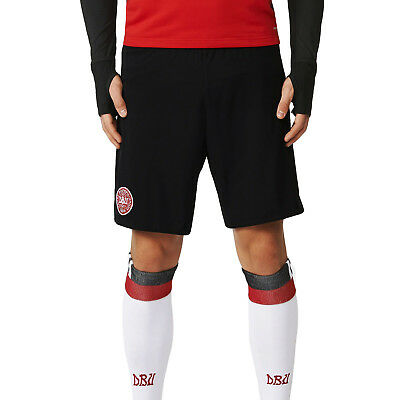 adidas Performance Mens Denmark Football Soccer Training Shorts - Black
