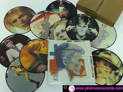 """David Bowie Fashions Box 10 7"""" Picture Disc Bow 100"""