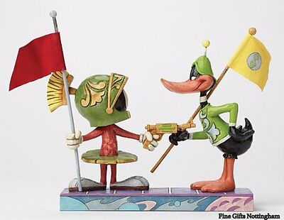 Looney Tunes Marvin The Martian & Daffy Duck Figurine - I Claim This Planet