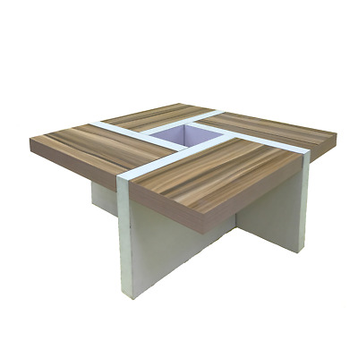 Mobili Rebecca® Coffee Table Low Table Wood White Brown Modern Design Sitting