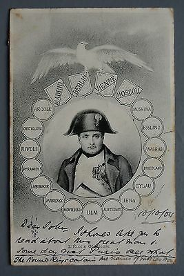 R&L Postcard: 1904 Card Showing Napoleon Bonaparte