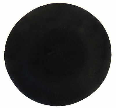 New Vintage WWII 1940's Style Homefront Victory Black Classic Beret Hat