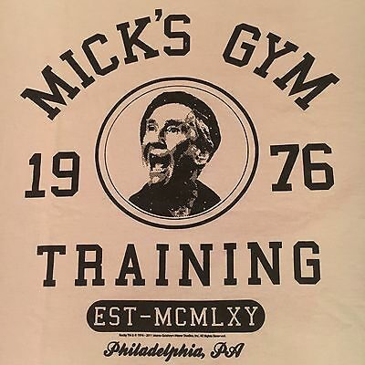 licensed MICK'S GYM TRAINING t shirt-ROCKY boxing BURGESS MEREDITH-nwot NEW-(XL)