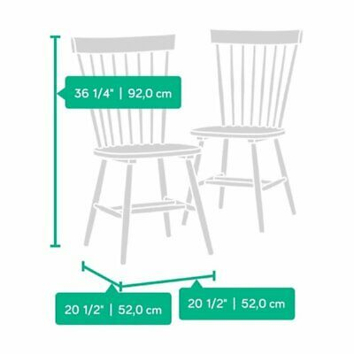 Bowery Hill Spindle Back Dining Chair in White (Set of 2)
