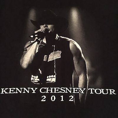 licensed KENNY CHESNEY t shirt-2012 BROTHERS OF THE SUN TOUR--looks UNUSED--(L)