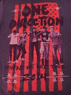 pop art ONE DIRECTION  t shirt--2014 WHERE WE ARE TOUR-fashion GRAPE color--(S)
