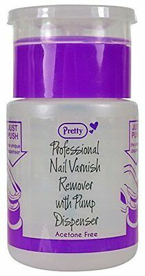 Pretty Professional Nail Varnish Remover with Pump Dispenser 70ml Acetone Free -