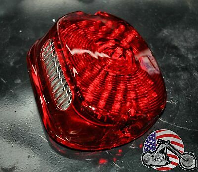 Moons MC Red OE Low Profile LED Integrated Taillight Turn Signals Harley Dyna XL