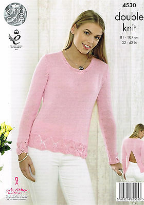 Knitting Pattern King Cole 4530 DK Top & Sweater