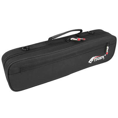 Tiger Padded Flute Carry Case - Black Cover