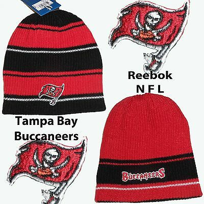 Official Reebok Tampa Bay Buccaneers  Reversable Knitted Hat OSFA Adults