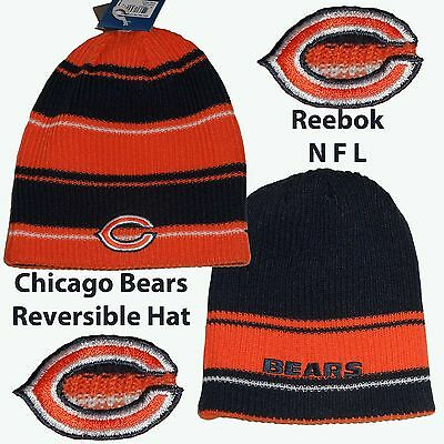 Official Reebok Chicago Bears  Reversable Knitted Hat OSFA Adults