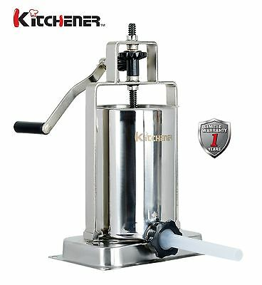 NEW Kitchener 10-lbs Stainless Steel Sausage Stuffer/Filler/Maker