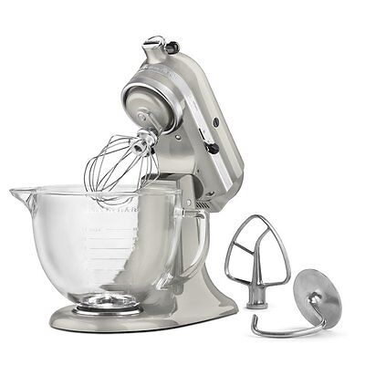 Kitchenaid KSM155GBSR 5Quart Tilt Head Stand Mixer Glass Bowl