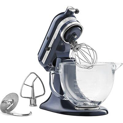 Kitchenaid KSM155GBUB 5Quart Tilt Head Stand Mixer Glass Bowl