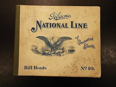 Vintage Gibsons National Line of Commercial Blanks Bill Heads booklet