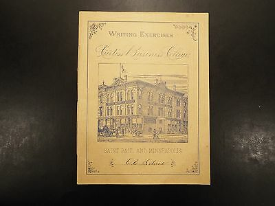 Vintage Curtiss Business College Writing Exercises booklet