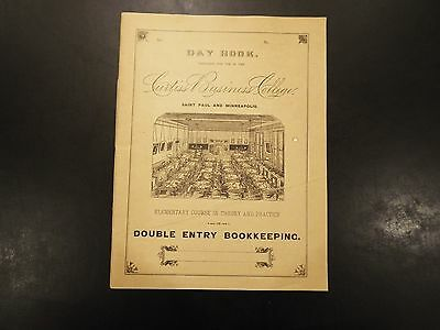 Vintage Curtiss Business College Day Book