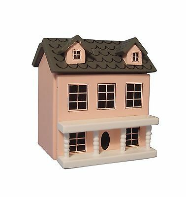 1:12th Scale Pink Painted Wood Toy House Dolls House Miniature Nursery Accessory