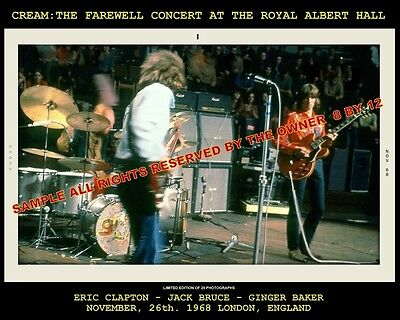 ERIC CLAPTON CREAM SET OF TWO PHOTOS 8 X 10 ALBERT HALL 68 TEEN CLUB 67 5x5 RARE
