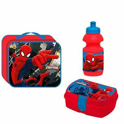 Spiderman Kindertasche Lunchbox Flasche Lunchbag Brotdose Trinkflasche Marvel