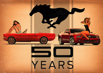Mustang 50th Anniversary Metal Sign