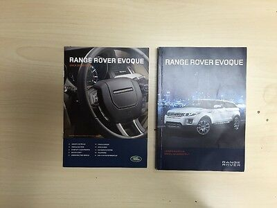 Land Rover Evoque 2012  Owners Manual Book ��SALE , No Case // FREE SHIPPING